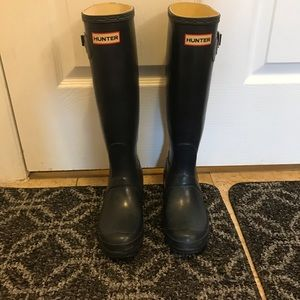 Hunter Classic Tall Rubber Boots Black